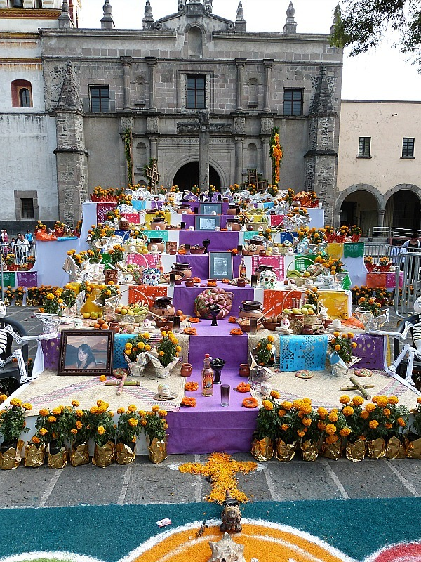 Day of the Dead shrine in Mexico City