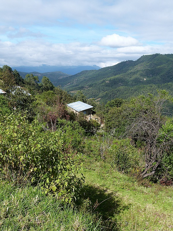 Views from the village of Latuvi, one of the Pueblos Mancomunados in the Sierra Norte Mountains in Oaxaca