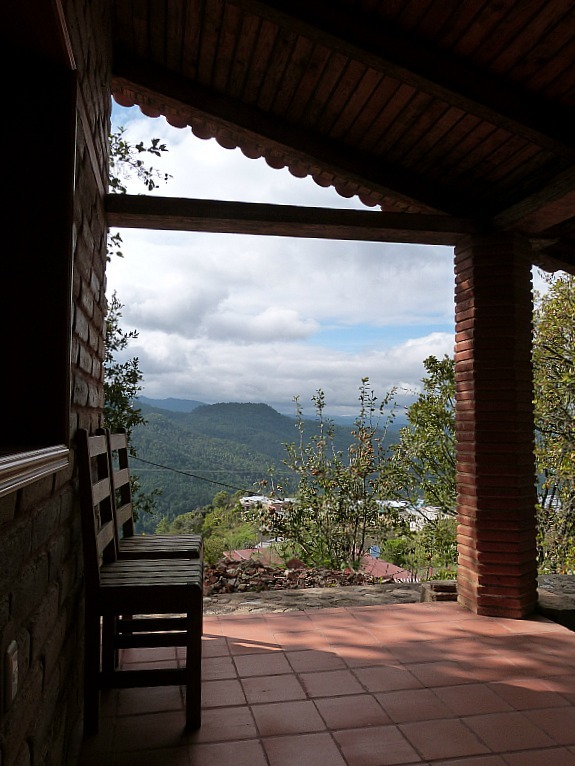 Our eco cabin in the village of Latuvi, one of the Pueblo Mancomunados in the Sierra Norte Mountains of Oaxaca