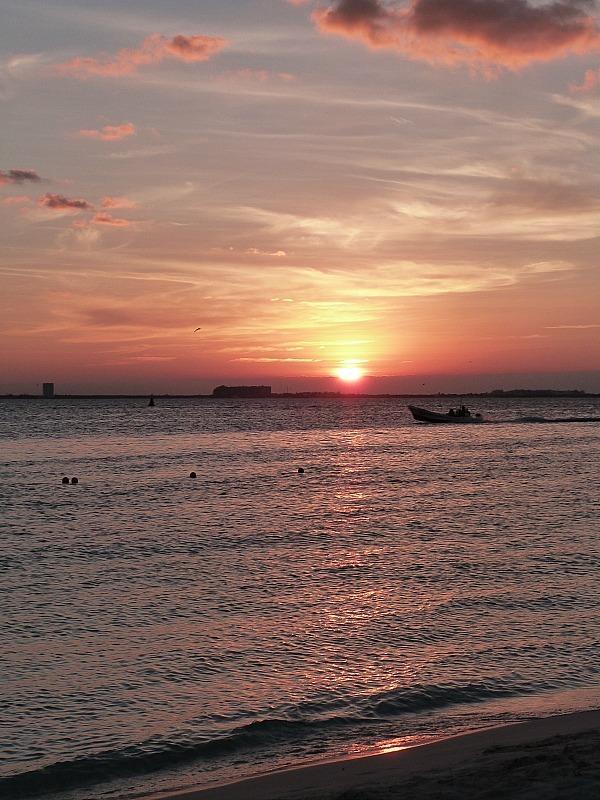 Sunset on Isla Mujeres, Yucatan Coast, Mexico