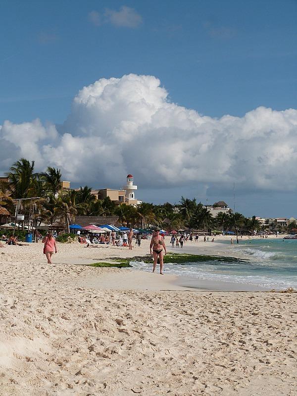 Playa del Carmen beach, Yucatan Coast, Mexico