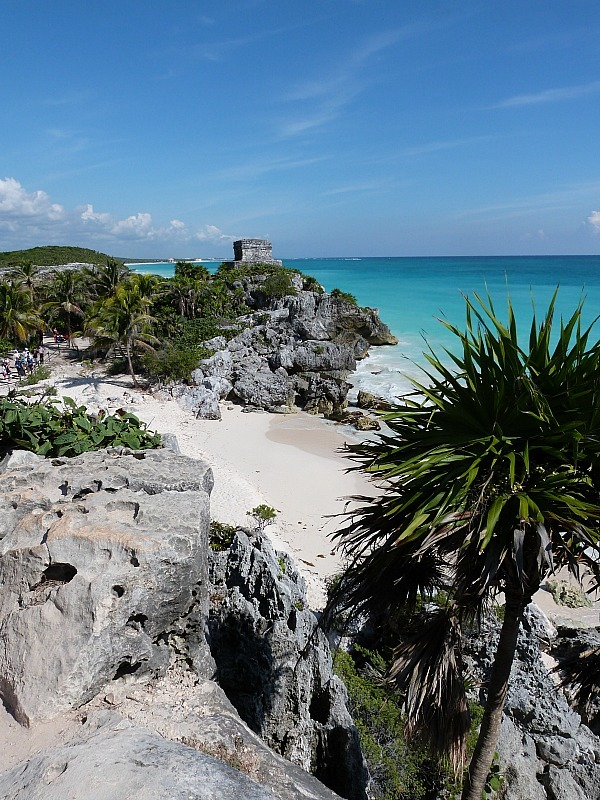 Tulum ruins on the Yucatan Coast of Mexico