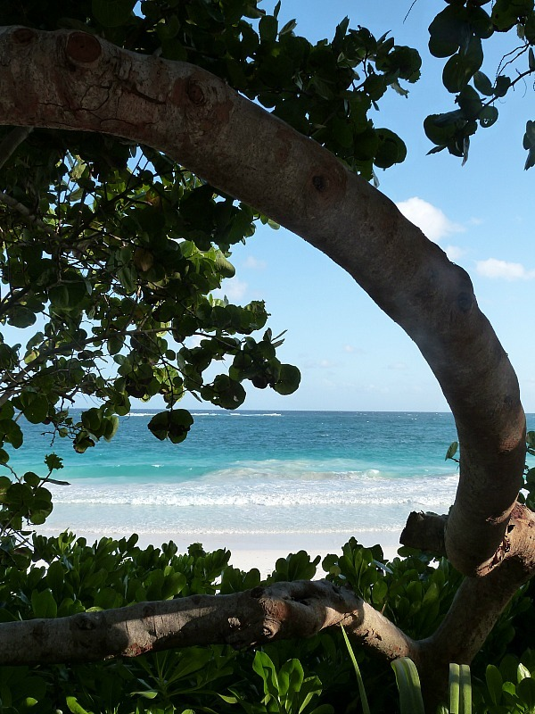 Tulum beach on the Yucatan Coast of Mexico