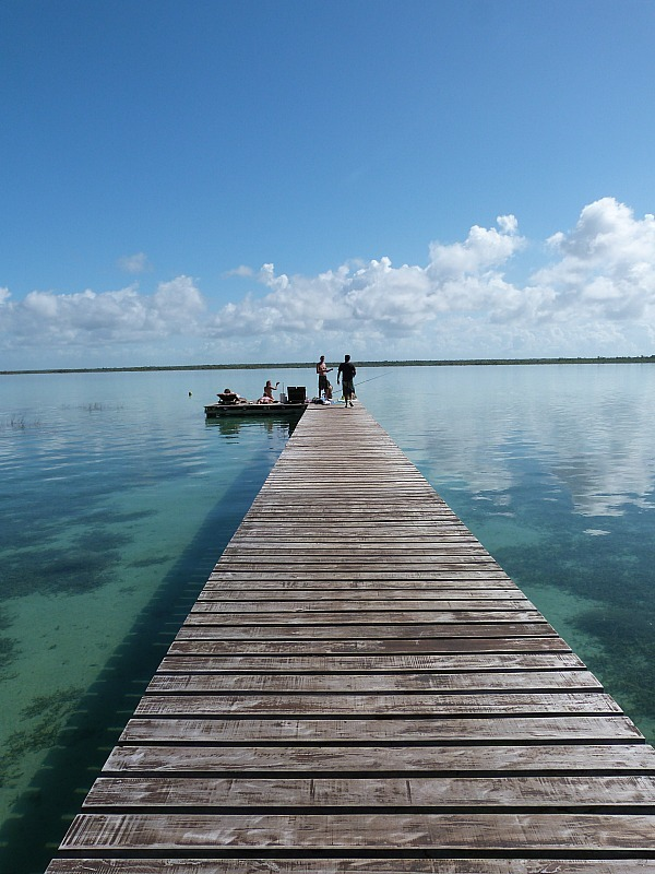 Laguna Bacalar on the Yucatan Coast of Mexico