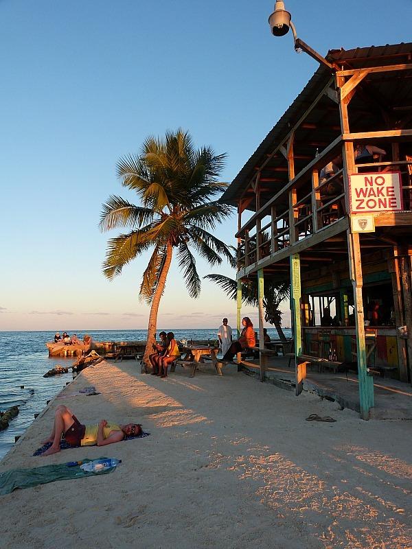 Bar at the Split on Caye Caulker, Belize
