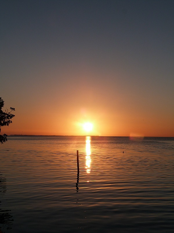 Sunset at the Split on Caye Caulker, Belize
