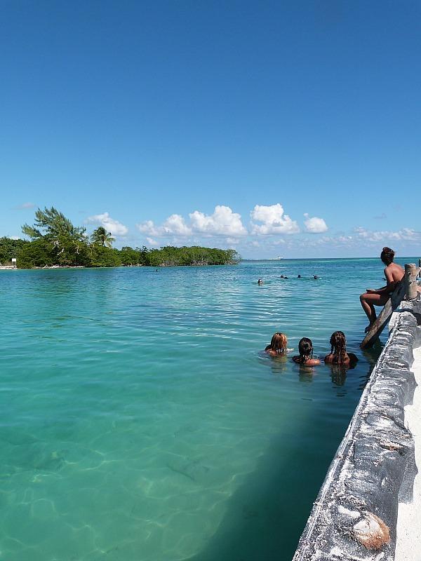 Swimming at the Split on Caye Caulker, Belize