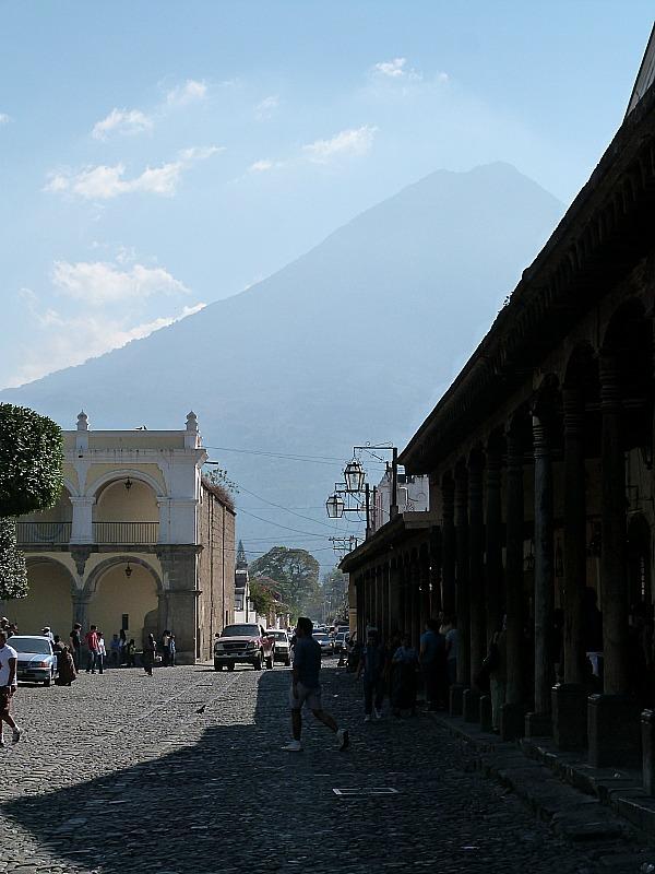 Volcano views in Antigua, Guatemala