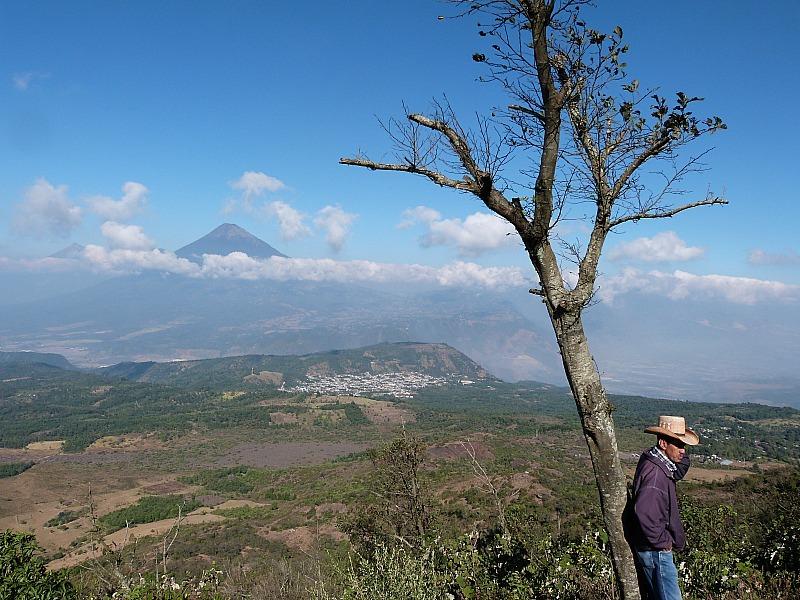 Volcano views near Antigua, Guatemala