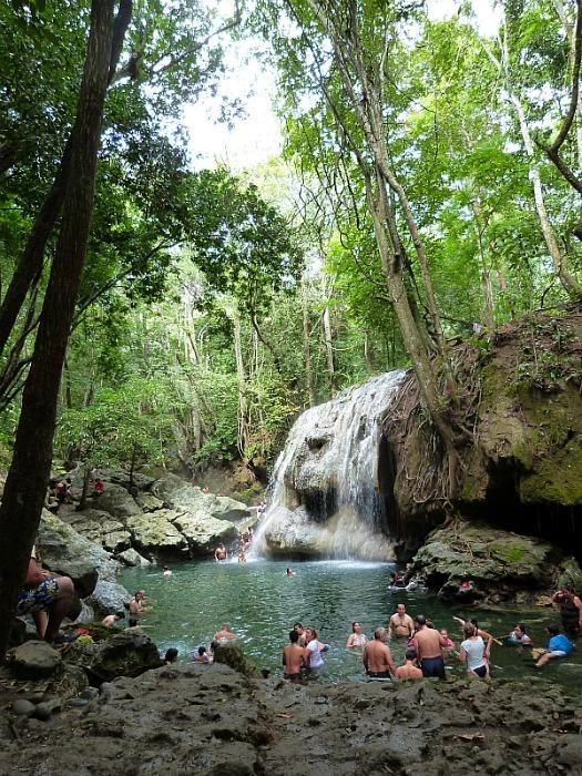 Hot Waterfall in Rio Dulce, Guatemala