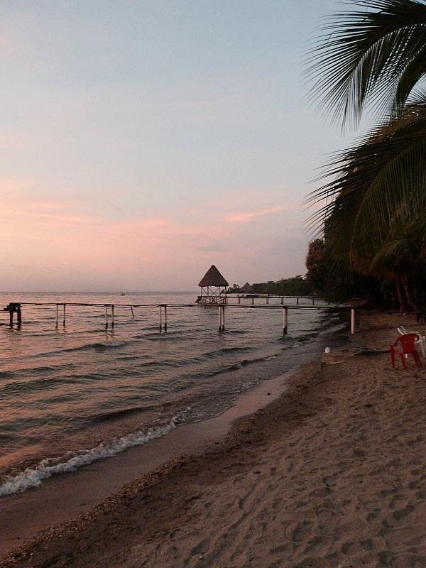 Sunset in Denny's Beach in the Izabal Region of Guatemala