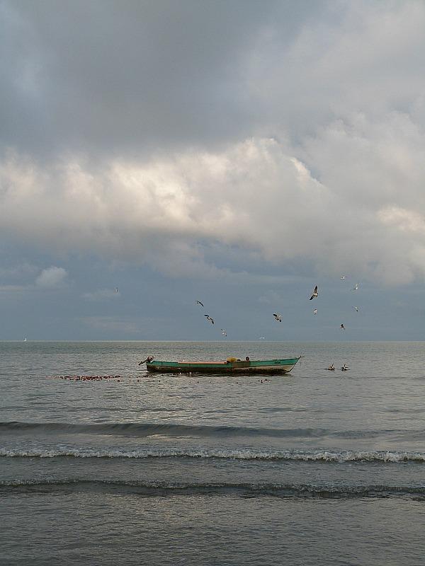 Fishing boat in Livingston, Guatemala
