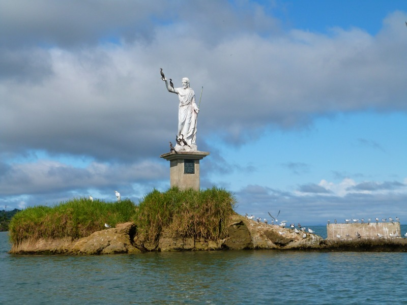 Statue in Livingston, Guatemala