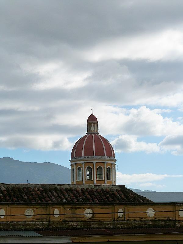 Colorful church in Granada, Nicaragua