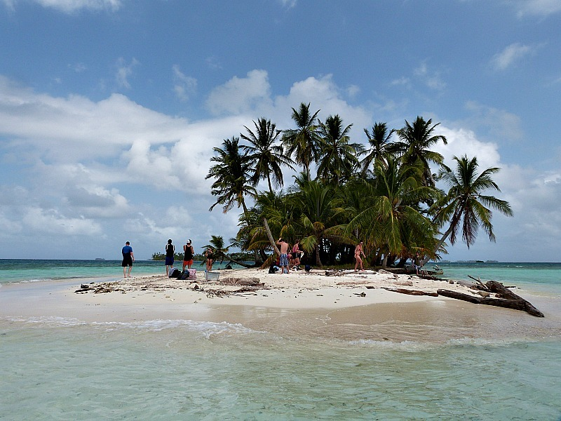 Tiny uninhabited island in the San Blas Islands, Panama