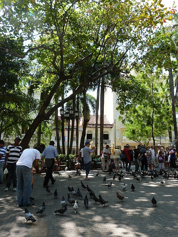Square in Cartagena, Colombia