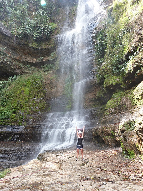 Waterfall near San Gil in Colombia that I abseiled down