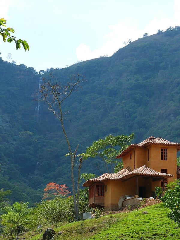 Waterfall near San Gil in Colombia
