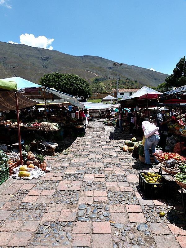 Local market in Villa de Leyva, Colombia