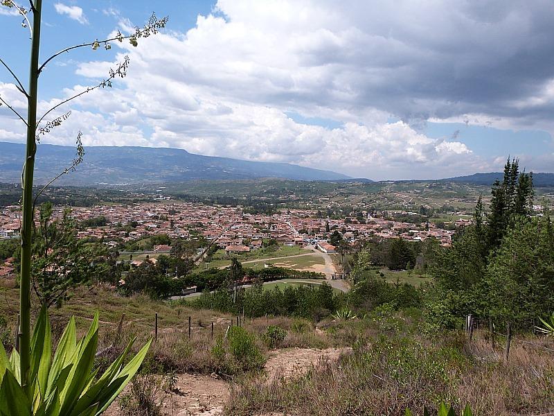 View over Villa de Leyva, Colombia