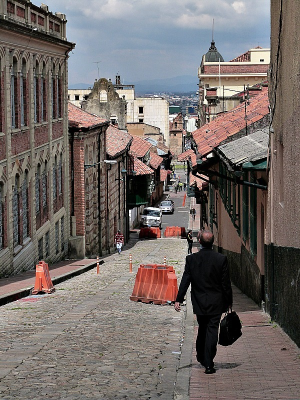 Back street in Bogota, Colombia