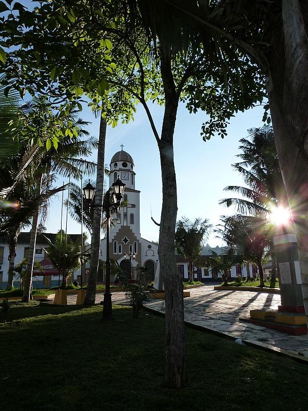 Main Square in Salento in Colombia's Coffee Region