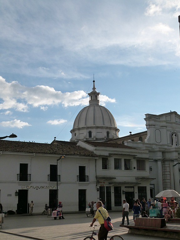 Church in Popayan in the Coffee Region of Colombia
