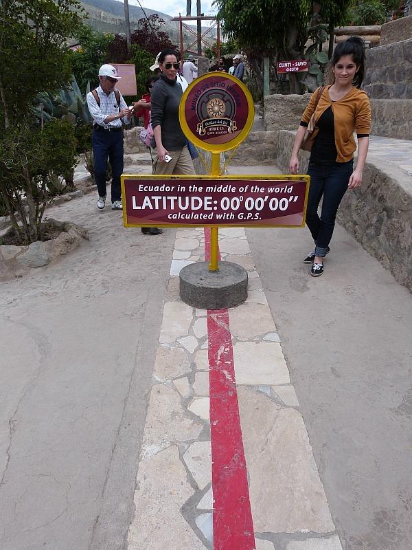 Equator Line near Quito, Ecuador
