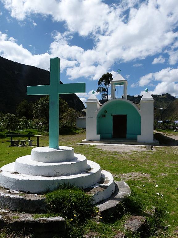 Church on the Quilotoa Loop in Ecuador