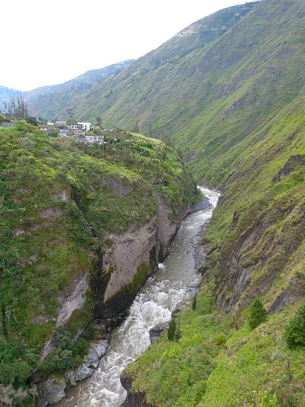 River in Banos, Ecuador