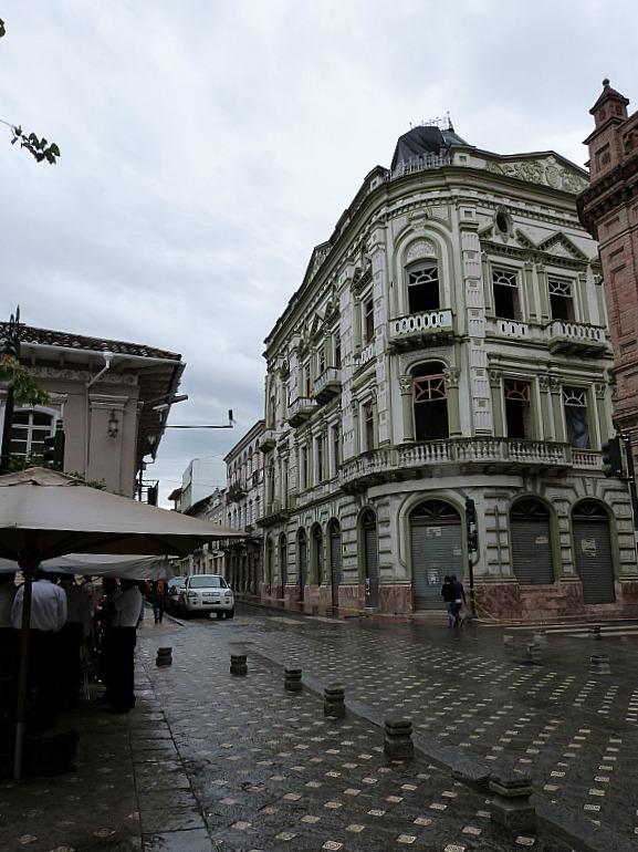 Colonial buildings in Cuenca, Ecuador