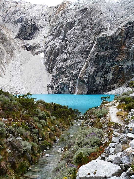 Laguna 69 in the Cordillera Blanca Mountains of Central Peru