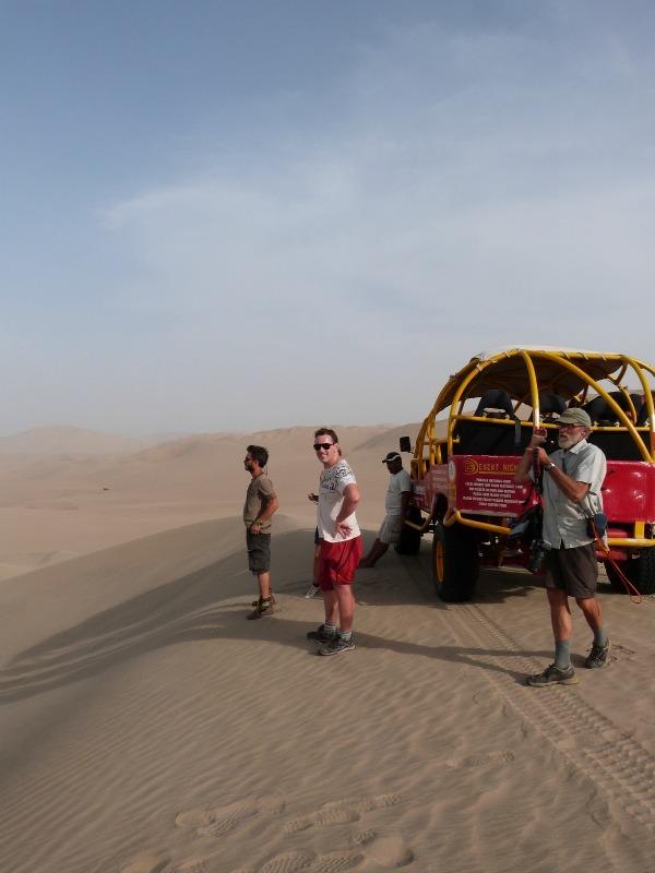 Dunebuggying in the desert around Huacachina in Peru
