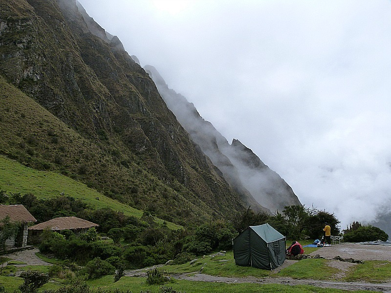 Campsite on Day Two of the Inca Trail in Peru