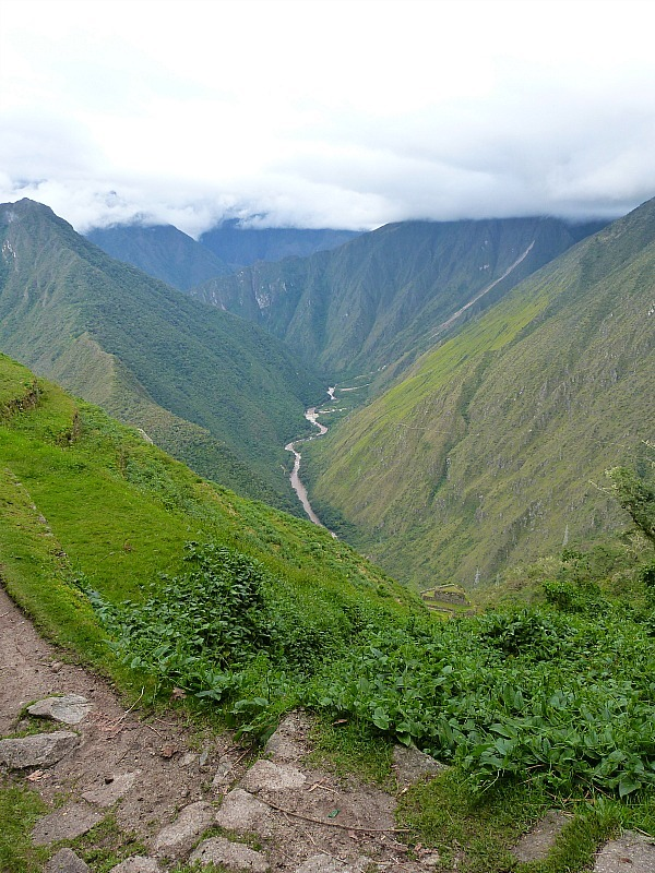 Views from Winay Wayna on day three of the Inca Trail in Peru