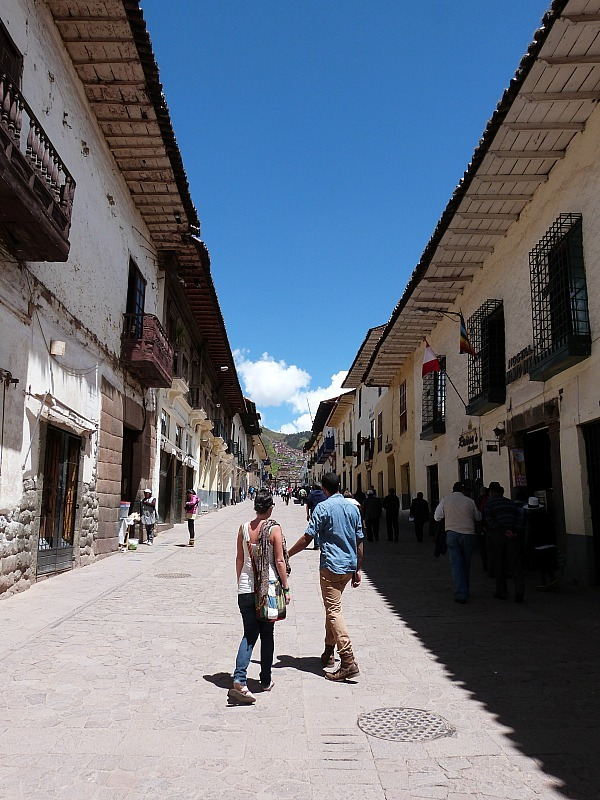 Wandering the streets in Cusco, Peru