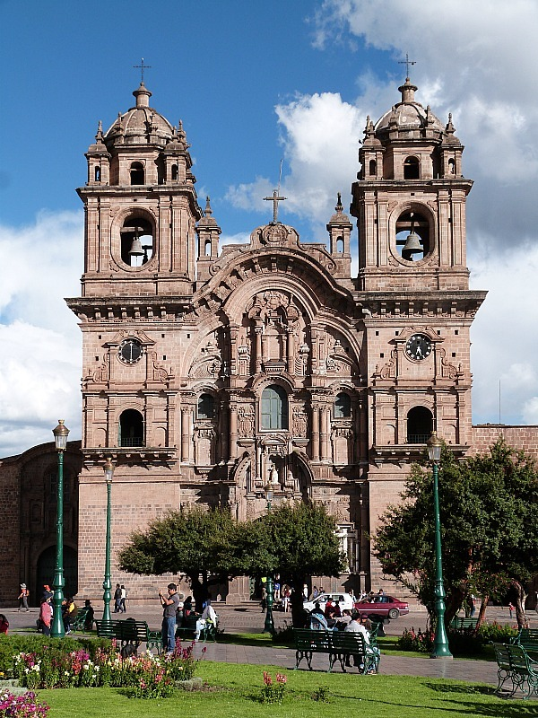 Church in main square of Cusco, Peru