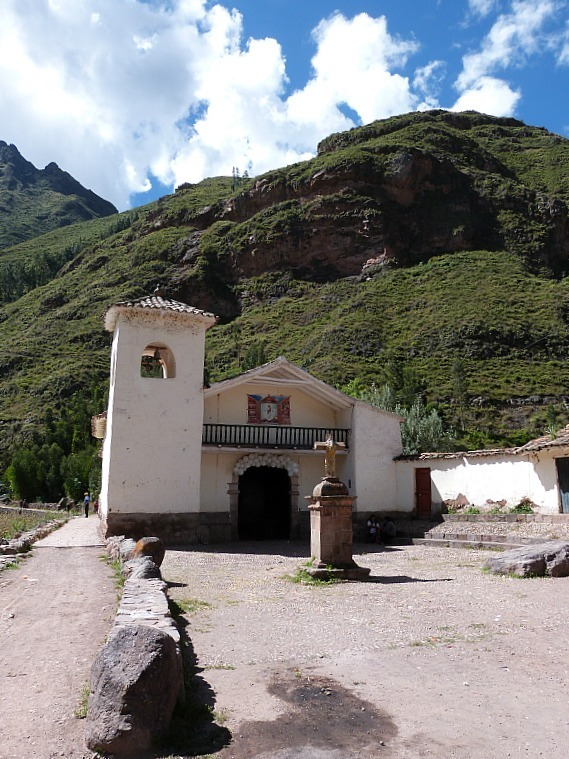 Church in Pisac in the Sacred Valley of Peru