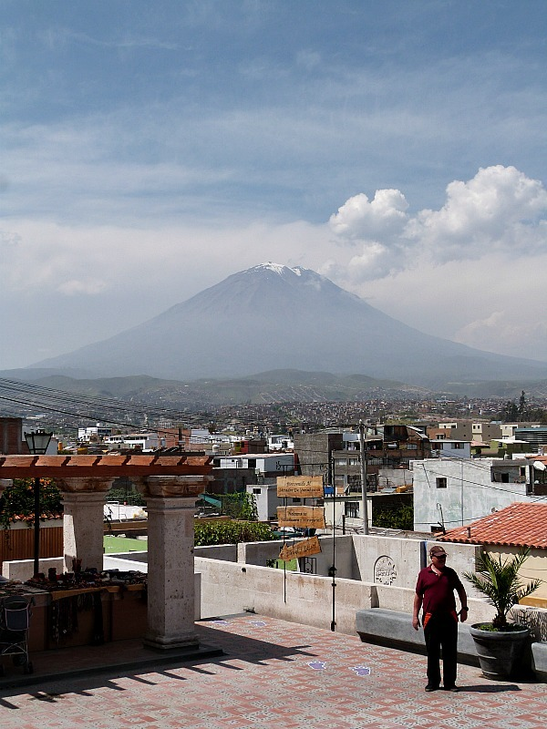 Volcano views in Arequipa, Peru