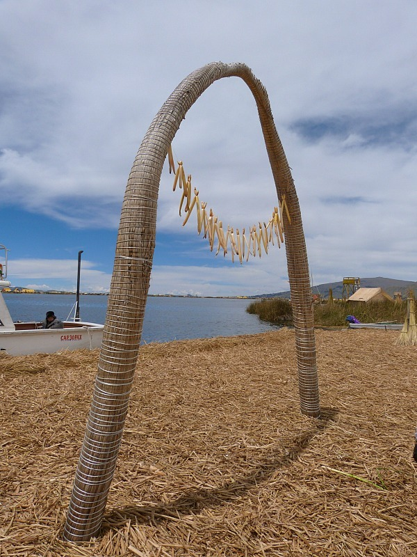 Floating Uros Islands of Lake Titicaca, Peru