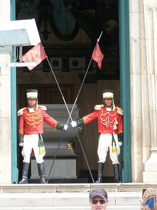 Changing of the guard in La Paz, Bolivia