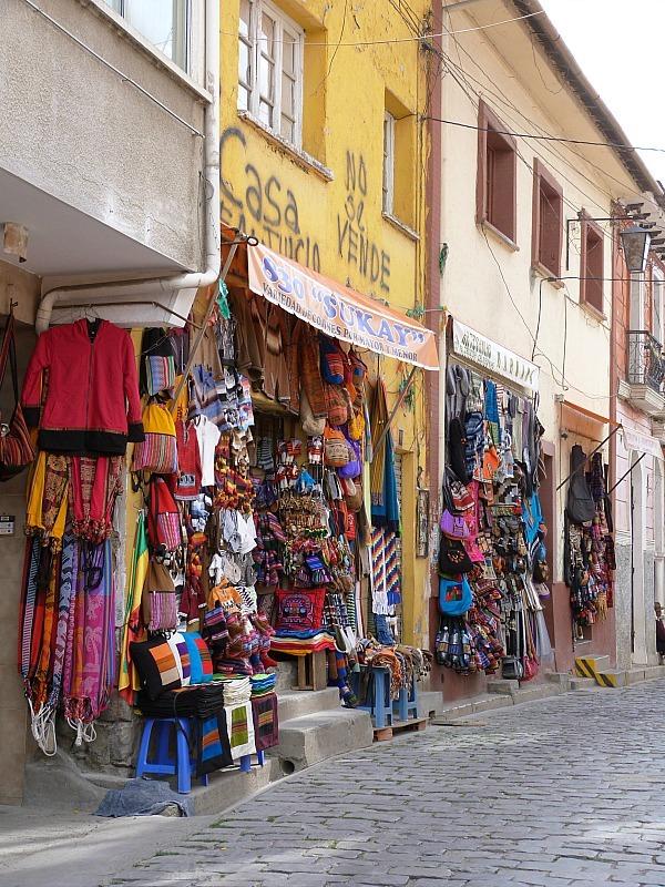 Downtown La Paz in Bolivia