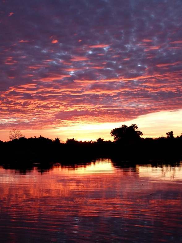 Sunset over the Amazon Basin of Bolivia