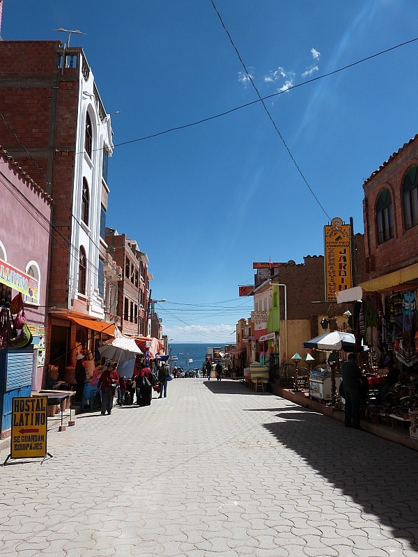 Copacabana on Lake Titicaca in Bolivia