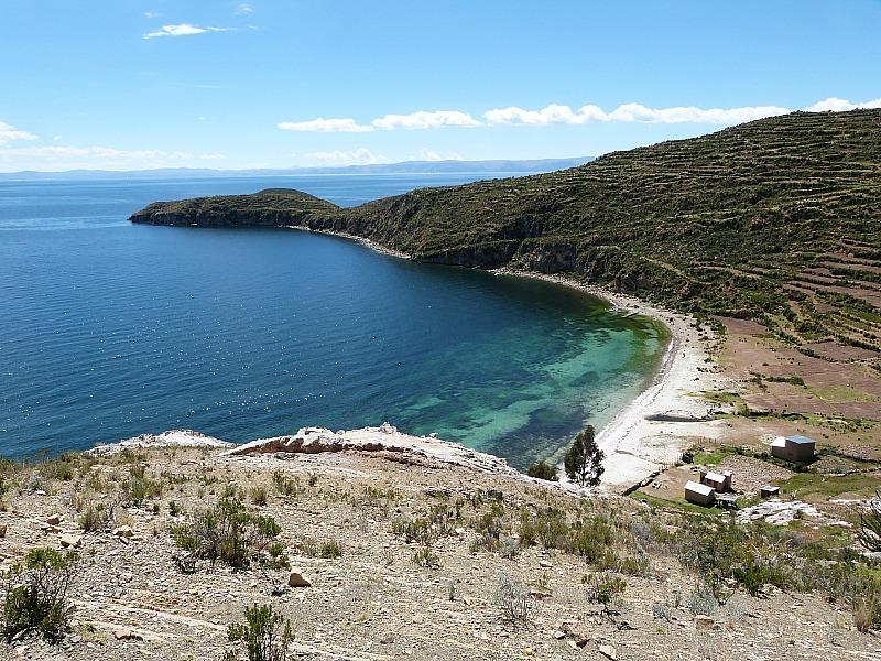 Beach on Isla del Sol in Lake Titicaca, Bolivia