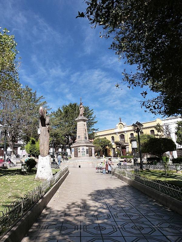Town Square in Potosi, Southern Bolivia