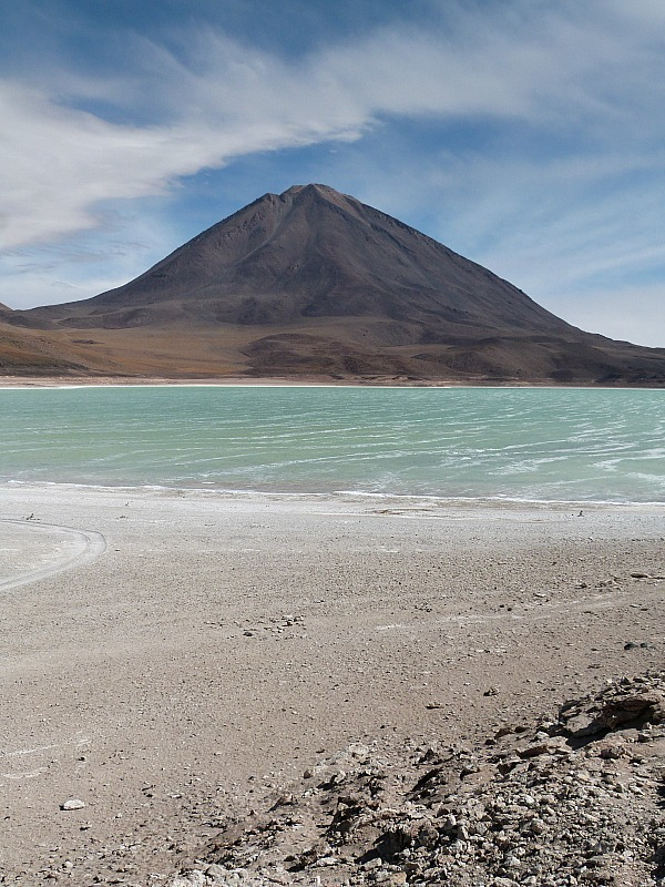 Laguna Verde in remote South West Bolivia