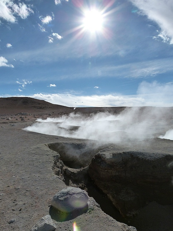 Steam vents in remote South West Bolivia