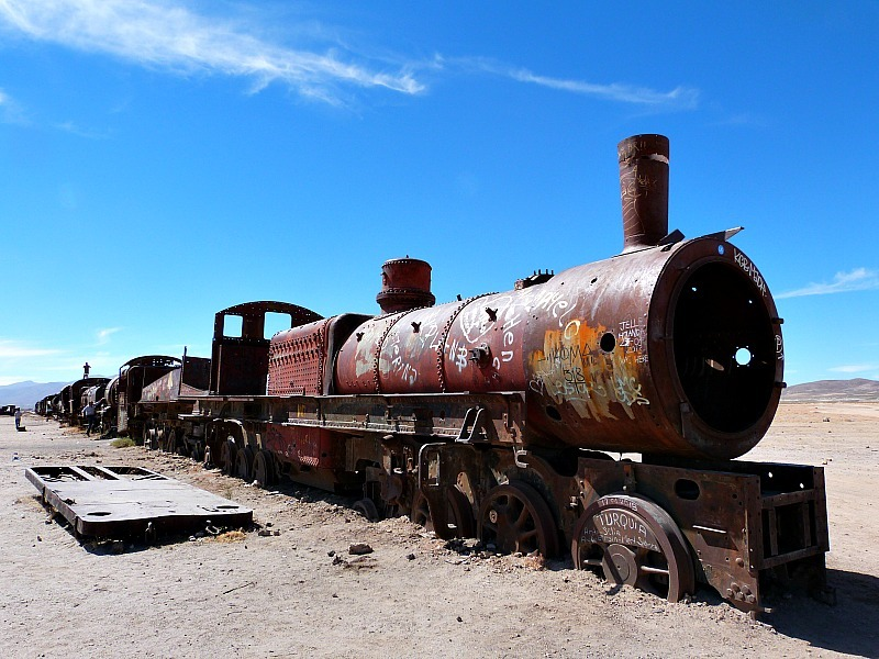 Train Graveyard near Uyuni in South West Bolivia