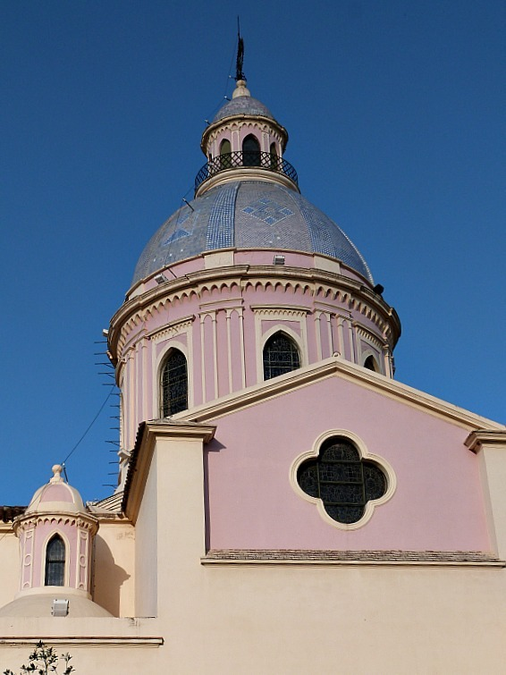 Pink cathedral in Salta, Northern Argentina